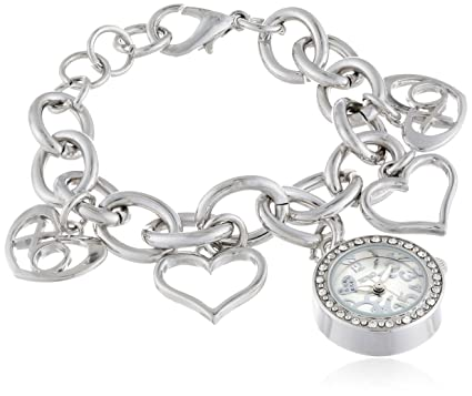 XOXO Women\u0027s XO7007 Silver Dial Silver,tone Charm Bracelet Watch