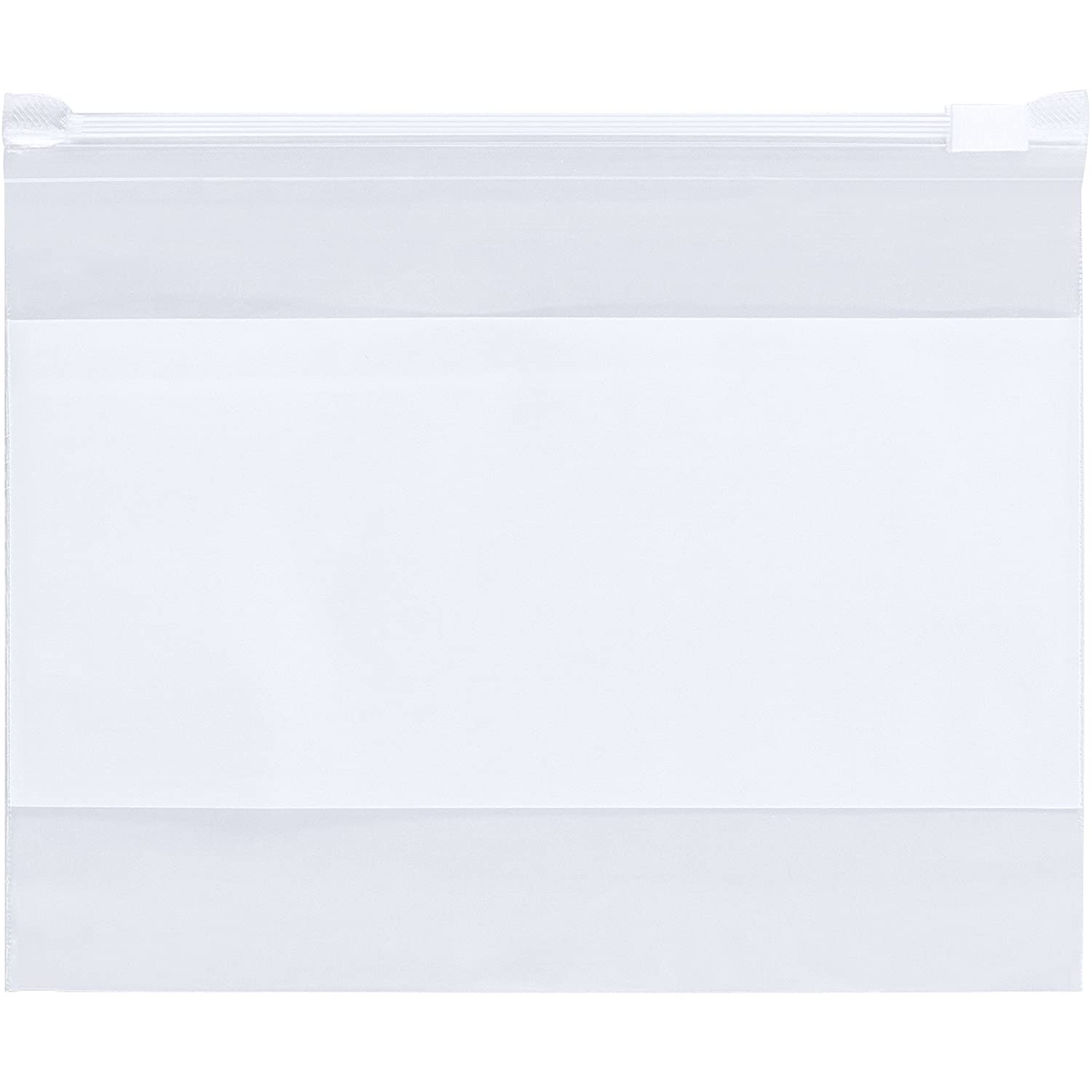 Clothing USDA Approved. Reclosable Packing Bags 4 Mil Food Resealable Polyethylene Storage Bags 100 Pack of White Block Lock Top Bags 8 x 10 FDA Zipper Lock Heavy Duty Plastic Bag for Jewelry