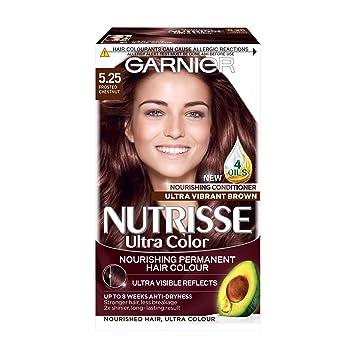 Garnier Nutrisse 5 25 Chestnut Brown Permanent Hair Dye Amazon Co