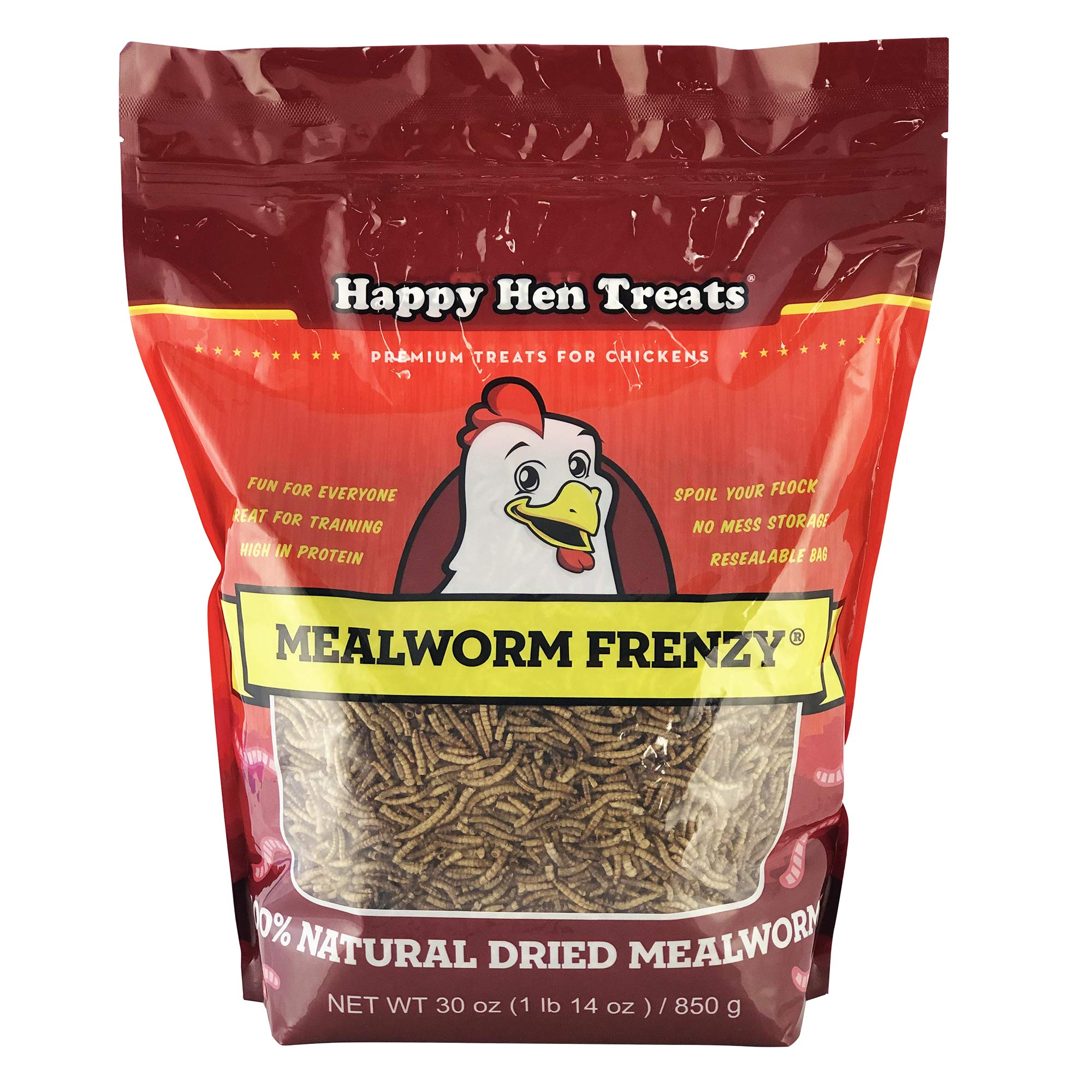 Happy Hen Treats Mealworm Frenzy, 30-Ounce by Happy Hen Treats