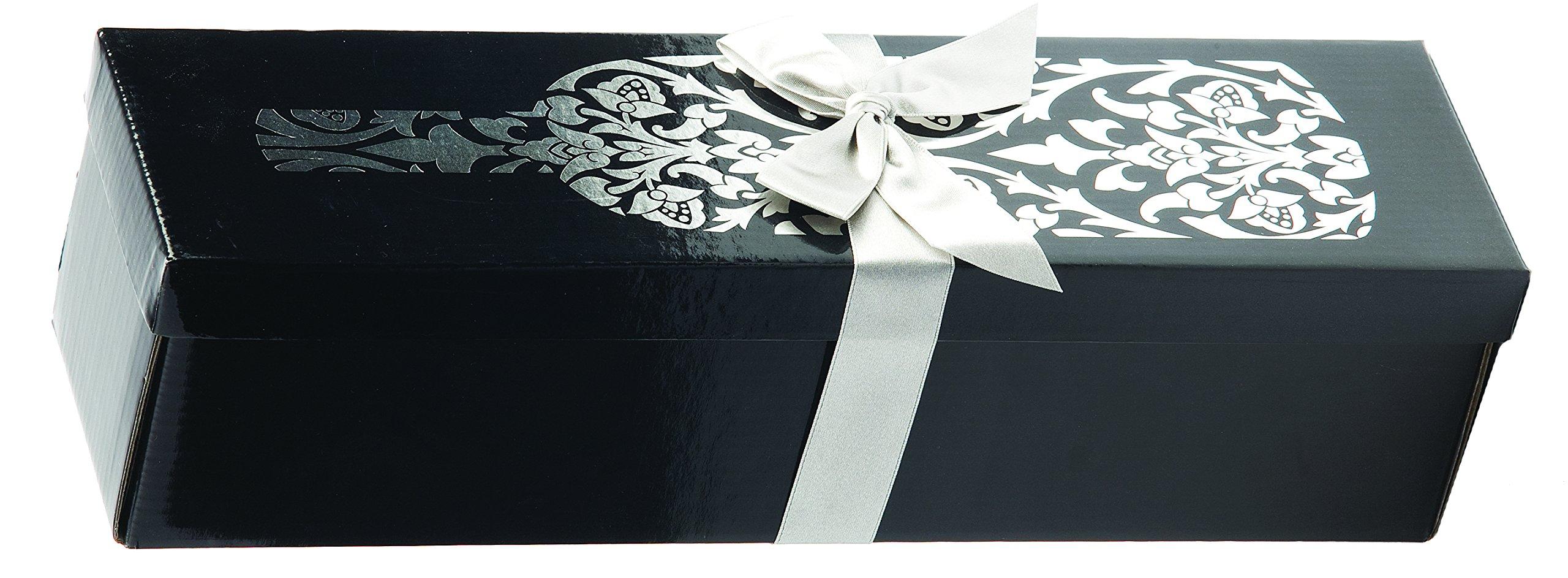 Cakewalk A Touch of Silver Single Bottle Wine Box, Black