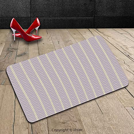 Custom machine-washable Door Mat Abstract orizzontale linee ondulate ...