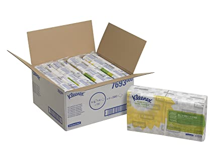 KLEENEX* SLIMFOLD Toallas Secamanos 7693 - 8 paquetes x 90 servicios de color blanco y