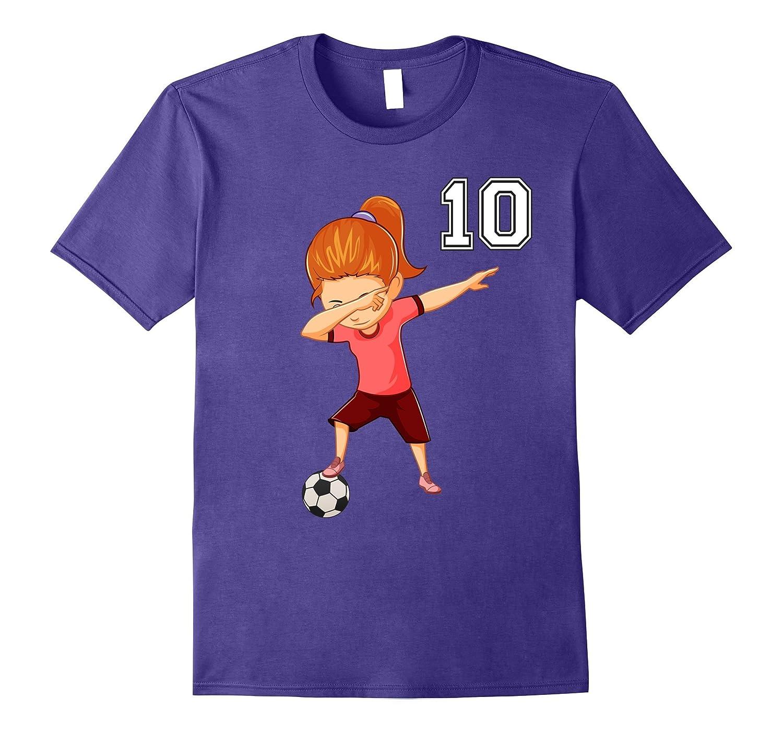 #10 Soccer Shirt Girls Funny Dabbing Dab Dance Soccer Ball-Art