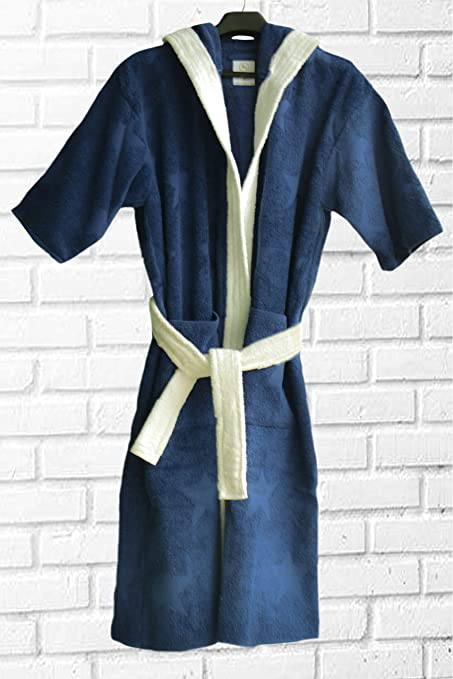 Image Unavailable. Image not available for. Colour  Loomkart Very Fine  Export Quality Bath Robes in Blue Stars in Avioni Zip-Packing- 2796bd67a