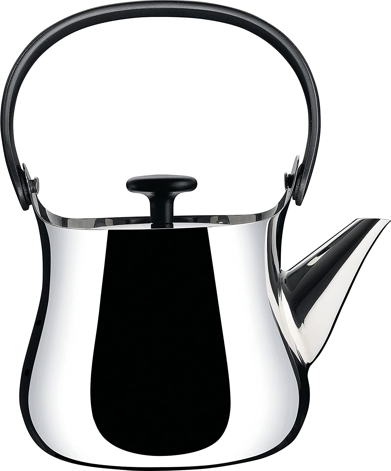 alessi cha kettleteapot in  stainless steel mirror  - alessi cha kettleteapot in  stainless steel mirror polished handleand knob in thermoplastic resin magnetic steel bottom suitable forinduction