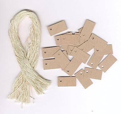 eef54dd32ff1 100 Blank Mini TINY KRAFT Hang Tags (1/2