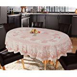 Katwa Clasic - 54 x 78 (Oval) Rose Lace Vinyl Tablecloth (Copper)