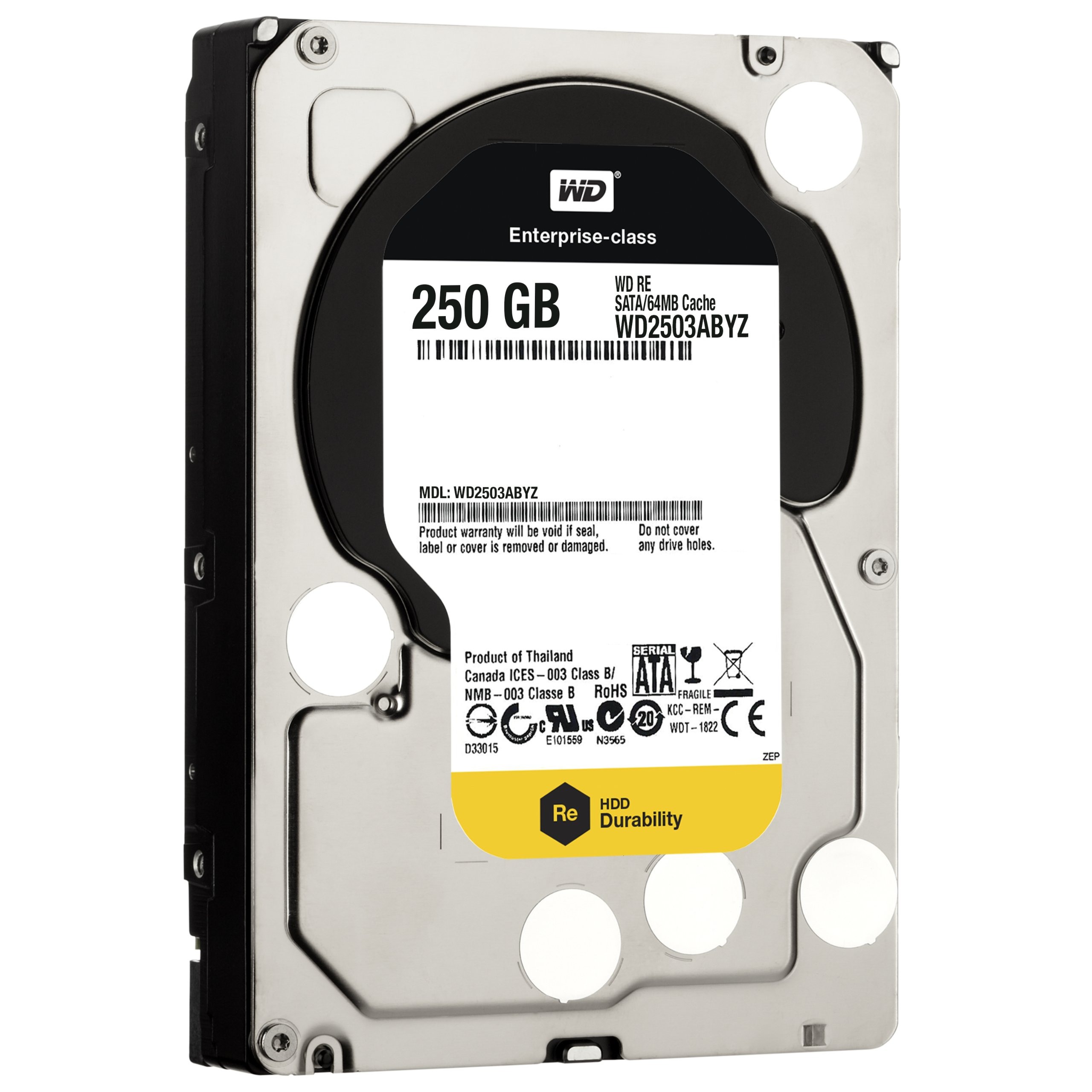 WD  250 GB WD RE SATA III 7200 RPM 64 MB Cache Bulk/OEM Enterprise Hard Drive WD2503ABYZ by Western Digital