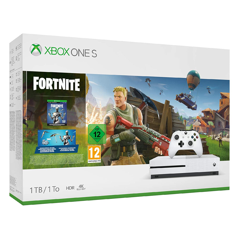 Xbox One S 1 TB, Color Blanco + Fortnite