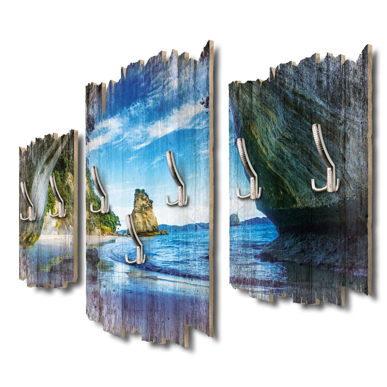 Kreative Feder Coromandel Neuseeland Designer Wandgarderobe Flurgarderobe Wandpaneele 95 x 60 cm aus MDF-Holz DTGH006