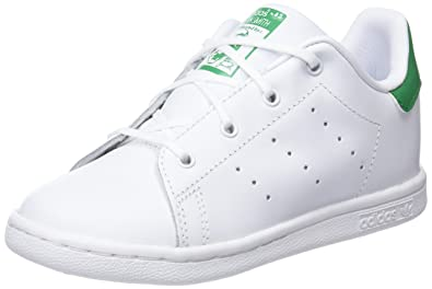 adidas Stan Smith C, Baskets Basses Mixte Enfant, Blanc Cassé (FTWR White/FTWR White/FTWR White), 35 EU