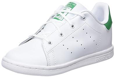 f56ff5604b62a7 ... schuhe turnschuhe retro selten 47f40 be50b  official store adidas  unisex baby stan smith hausschuhe weiß ftwbla verde 000 19 c1cb2 33a7d