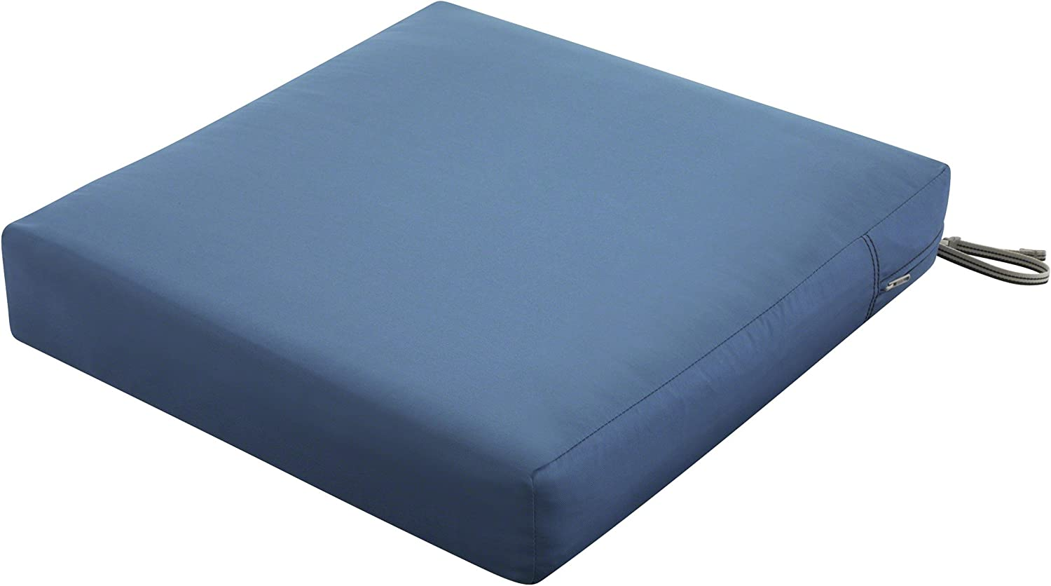 Classic Accessories Ravenna Square Outdoor Patio Seat Cushion, Empire Blue, 23 W x 23 D x 5 T