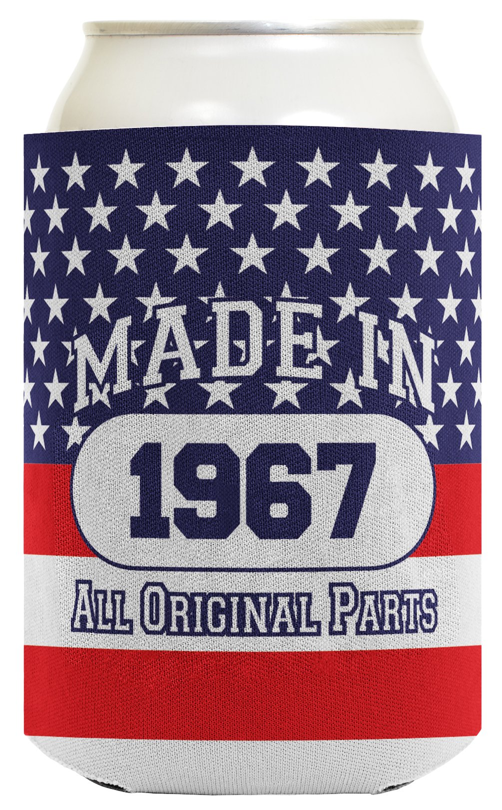 50th Birthday Gift Coolie Made 1968 Can Coolies 2 Pack Can Coolie Drink Coolers Coolies Patriotic by ThisWear (Image #3)
