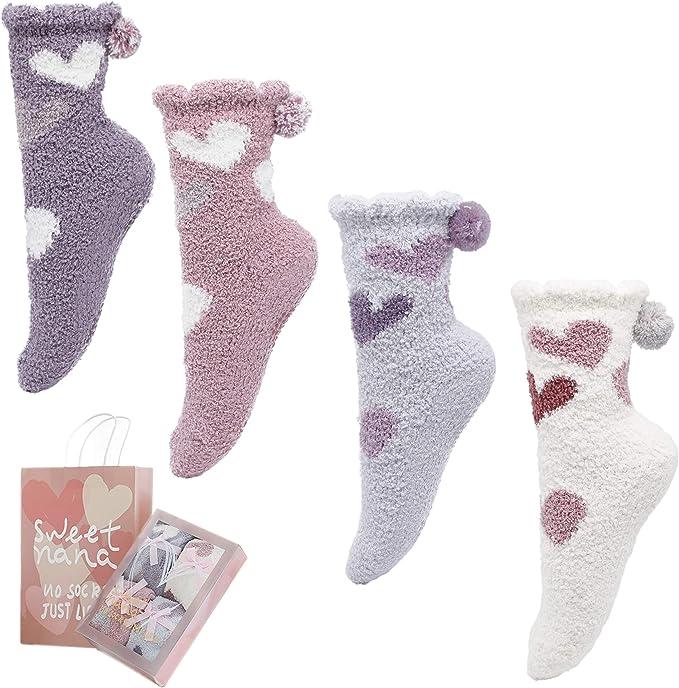 Kuschelsocken  Wintersocken Weihnachtssocken Socken Haussocken Strümpfe Socks