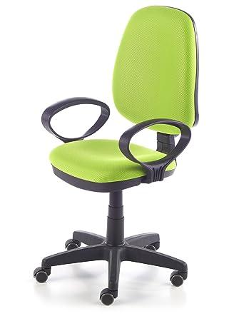Due-home Silla de oficina silla escritorio tapizado 3D color verde