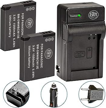 Amazon.com: Bm Premium Pack de 2 baterías DMW-BCM13E y ...