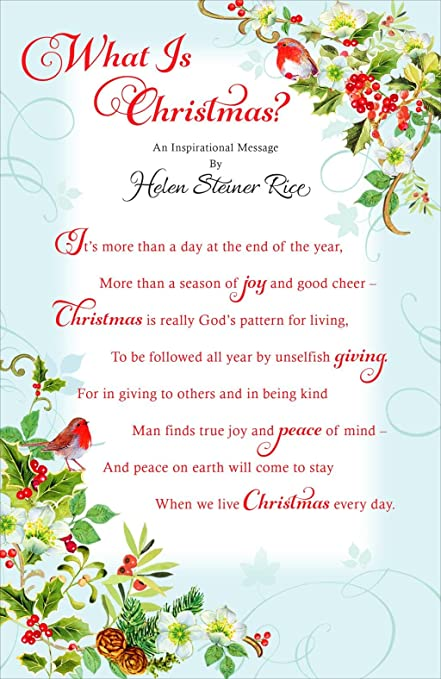 Amazon what is christmas by helen steiner rice greeting what is christmas by helen steiner rice greeting christmas card m4hsunfo