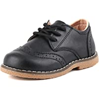 Moceen Boy's Girl's Classic Lace-Up Oxford Shoes Comfort School Uniform Dress Loafer Flats (Toddler/Little Kid)