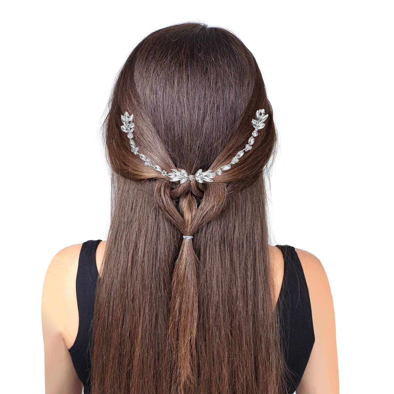Boao Peigne /à Cheveux Cristal de Mariage Coiffe de Fleur de Mari/ée Accessoire de Cheveux de Mari/ée Strass Peigne /à Cheveux pour Mari/ée Demoiselles dhonneur