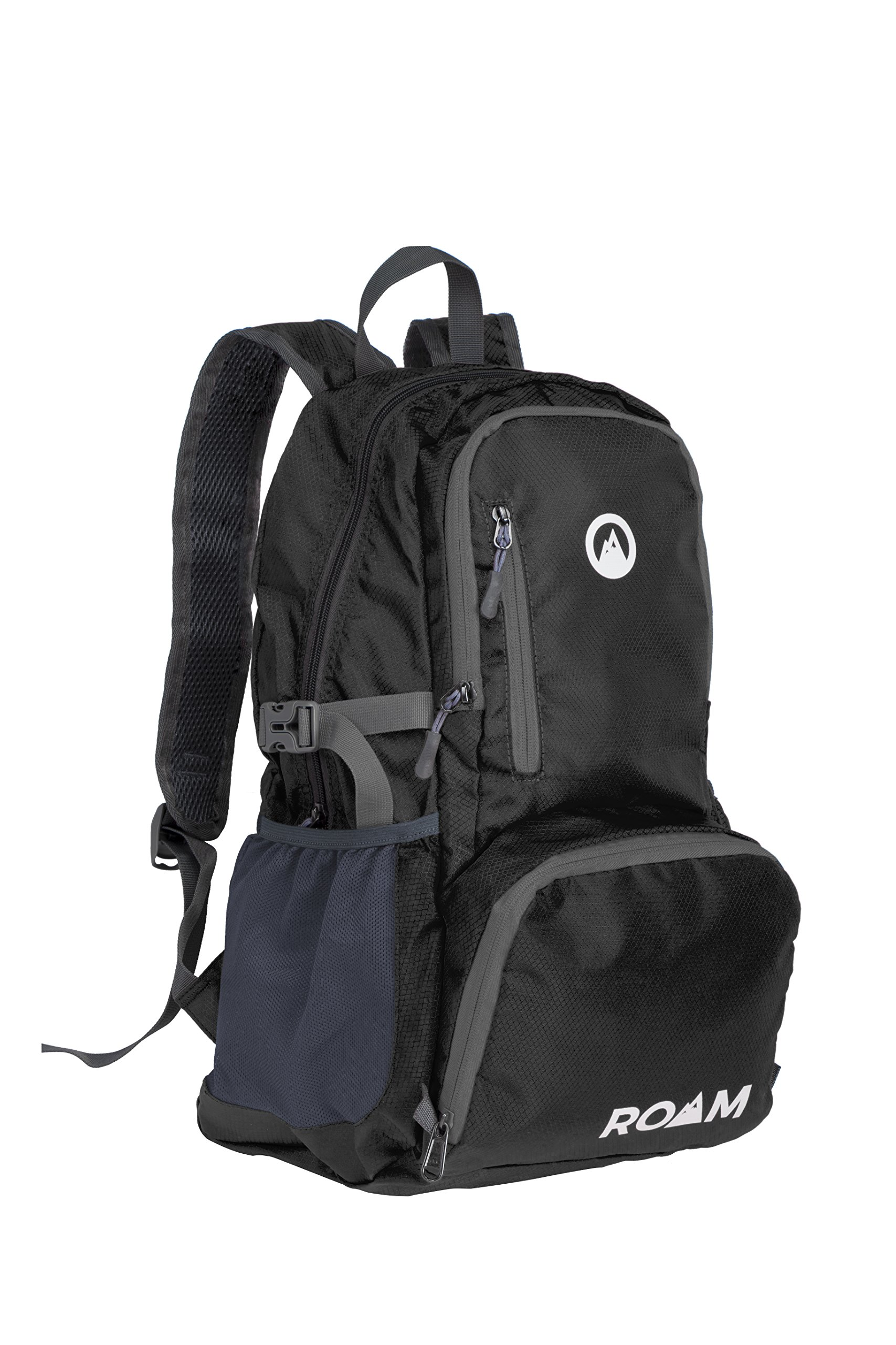 Roam Packable Backpack – Lightweight Foldable Daypack Water-Resistant, 25L, – Durable Tear-Resistant Nylon Weave – Daypack for Travel, Hiking, Backpacking, Camping, Mountaineering, Beach, Outdoors by Roam (Image #1)