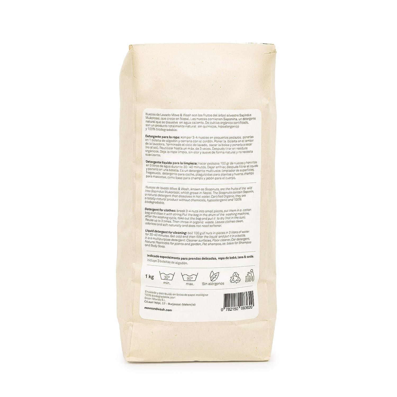 Move & Wash 1 kilo de Nueces de lavado de cultivo orgánico en ...