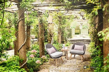 Cadena de Apple & Bee Madera de Teca Lounge Sillón Fleur De 2 personas/Balcón