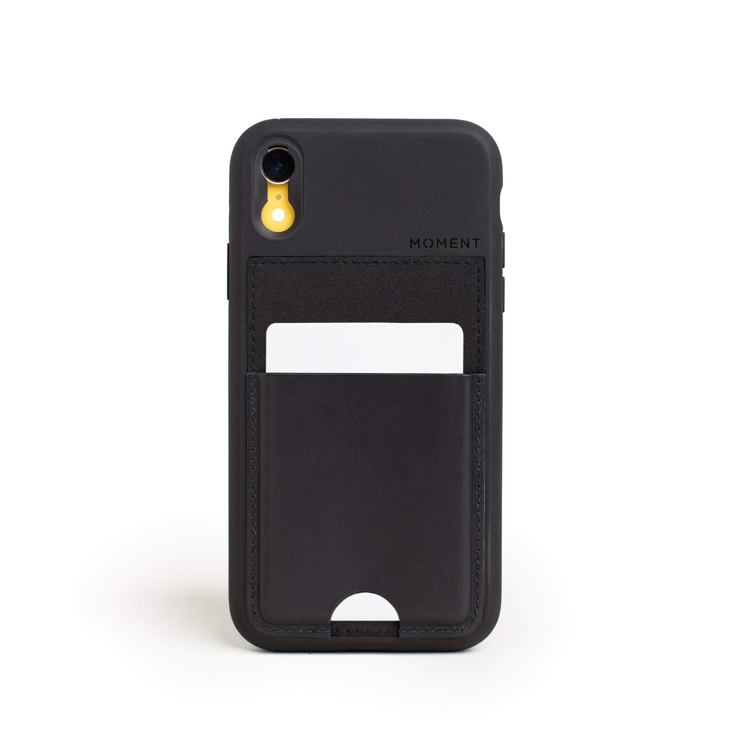 ویکالا · خرید  اصل اورجینال · خرید از آمازون · iPhone XR Wallet Case || Moment Photo Case in Black Leather - Thin, Protective, Wrist Strap Friendly Wallet case for Camera Lovers. wekala · ویکالا