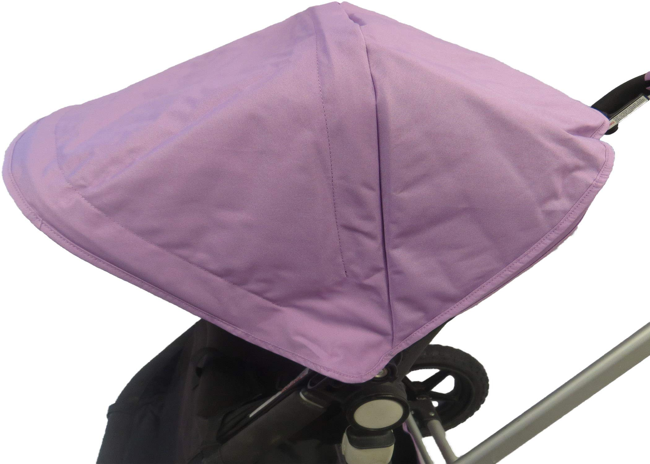 Light Purple Sun Shade Canopy Wires and Large Under Seat Storage Basket Plus Free Handle Bar Covers for Bugaboo Cameleon 1, 2, 3, Frog Baby Child Strollers by Ponini (Image #5)