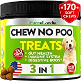 Chew No Poo Treats - Coprophagia Stool Eating Deterrent for Dogs – Made in USA – Stop Eating Poop for Dogs - Probiotics & Digestive Enzymes - Digestive Health & Immune Support - 170 Soft Chews