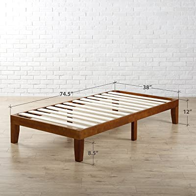 Zinus 12 Inch Wood Platform Bed Frames / No Boxspring Needed / Wood Slat  Support /