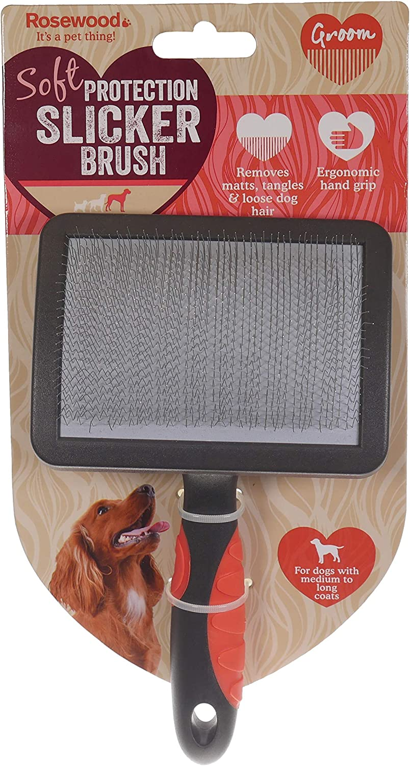 Rosewood Slicker Brush Large Grooming for Dogs and Cats