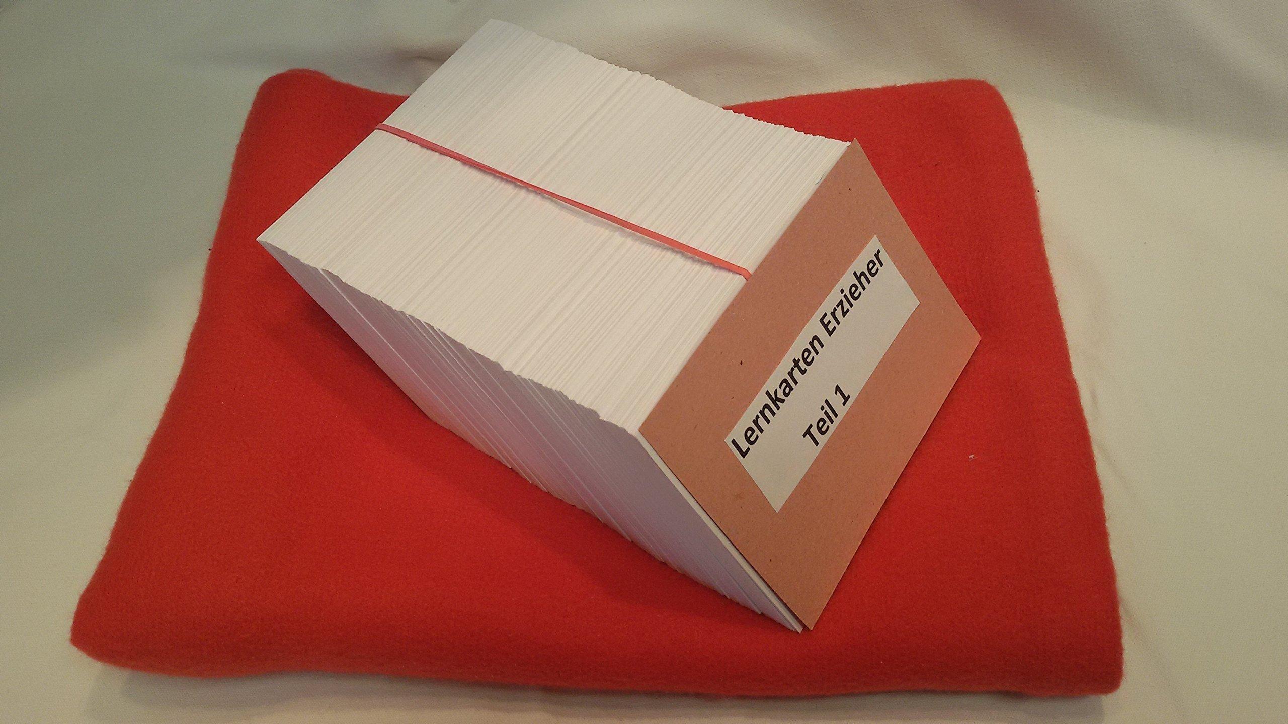 ein grosser Satz mit 500 Lernkarten für die Erzieher-Ausbildung oder Prüfungsvorbereitung zum staatlich anerkannten Erzieher Nichtschülerprüfung Externenprüfung Schulbegleiter Einzelfallhelfer Betreuer....