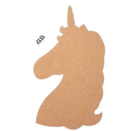 Amazon Com Corkboard Bulletin Board Unicorn Shaped Cork Board