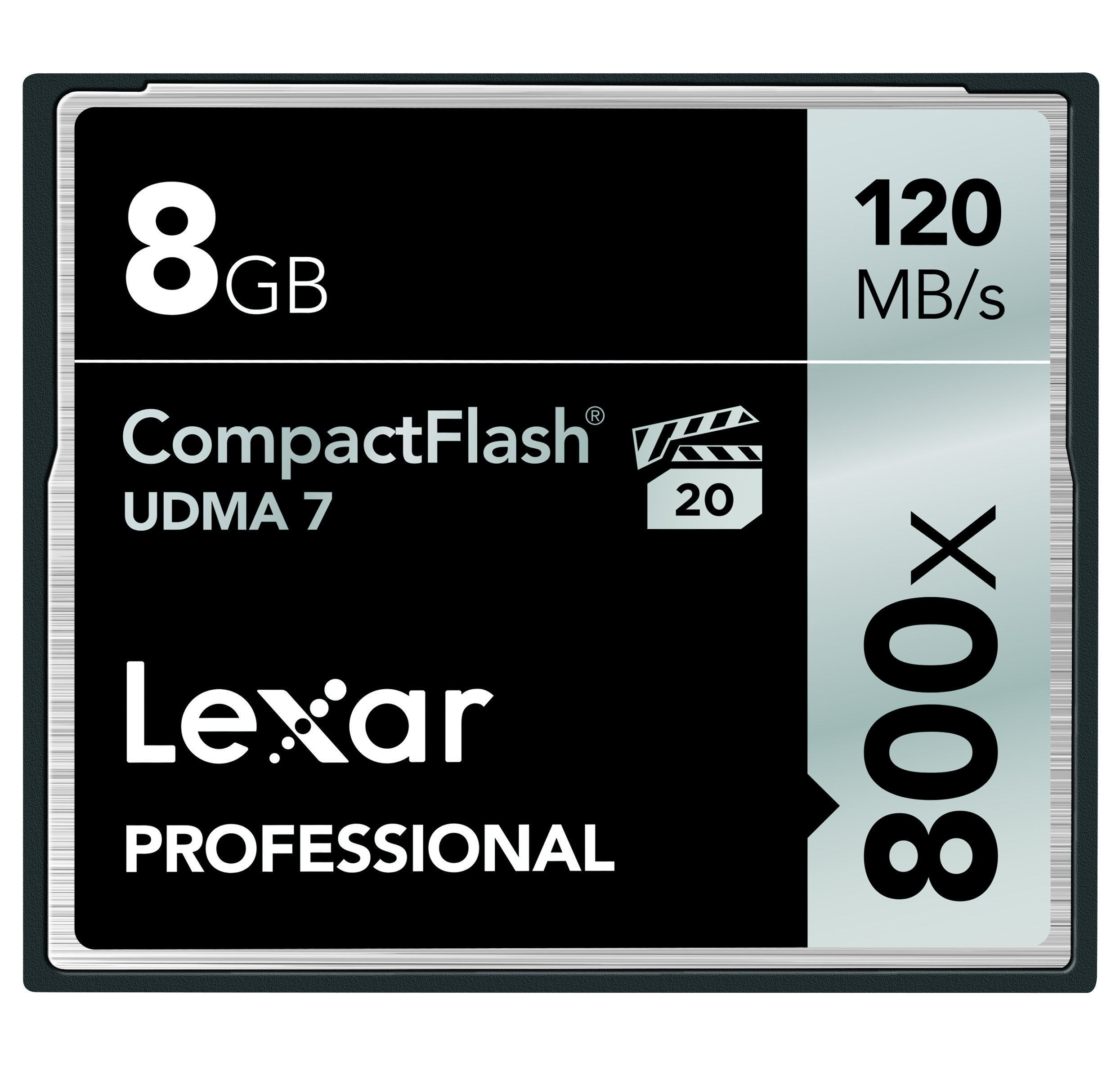 Lexar Professional 800x 8GB VPG-20 CompactFlash Card (Up to 120MB/s Read) w/Free Image Rescue 5 Software LCF8GBCRBNA800 by Lexar
