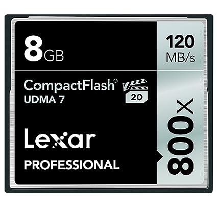 Lexar LCF8GBCRBNA800 memoria flash 8 GB CompactFlash - Tarjeta de ...