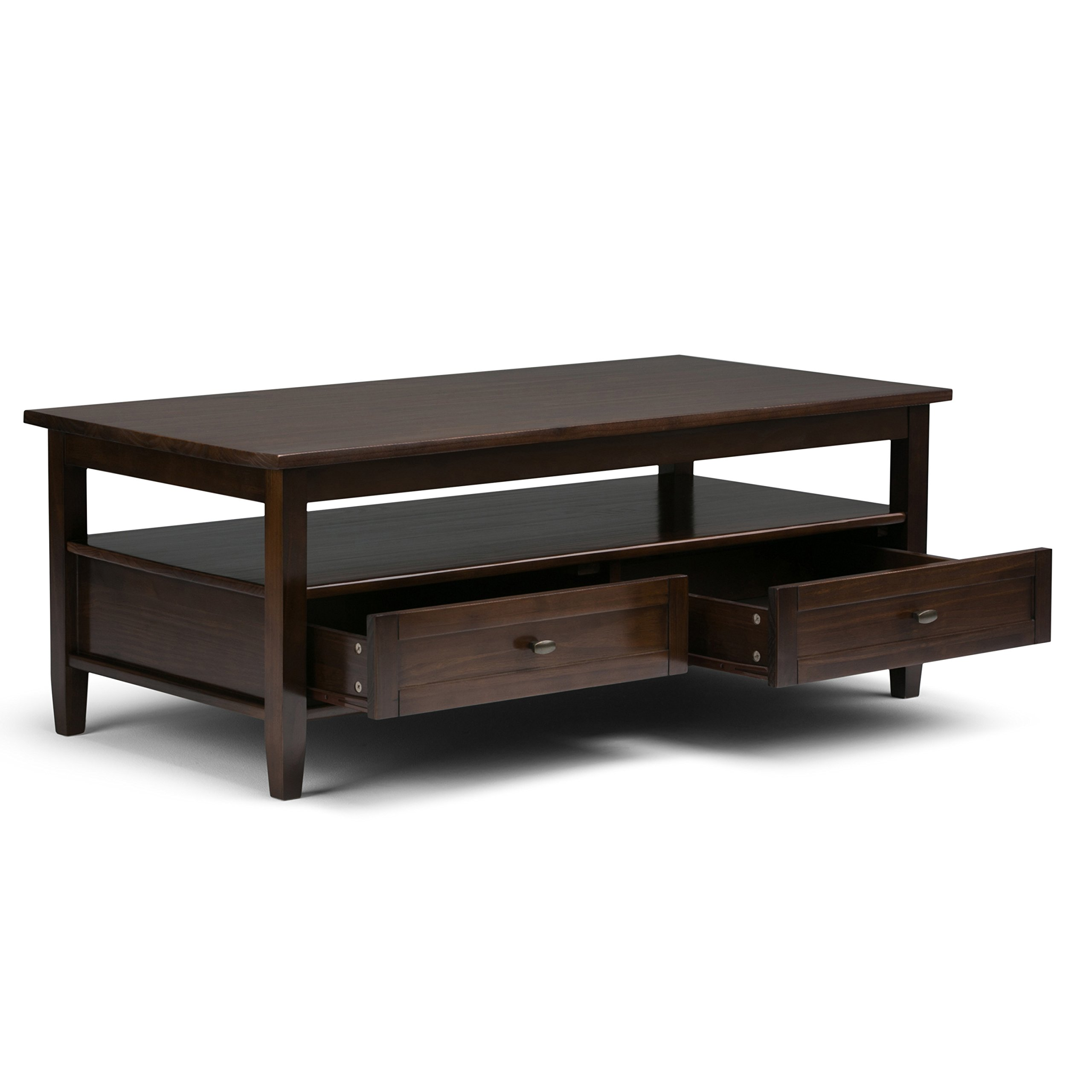Simpli Home Warm Shaker Solid Wood Coffee Table, Tobacco Brown by Simpli Home (Image #3)