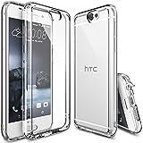 Funda HTC One A9, Ringke FUSION [CRYSTAL VIEW] Choque Absorción Funda de parachoques y Protección gota [GRATIS Protector de pantalla] Prima Clear Back duro para HTC One A9