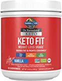 Garden of Life Dr. Formulated Keto Fit Weight Loss Shake - Vanilla Powder, 10 Servings, Truly Grass Fed Butter & Whey…