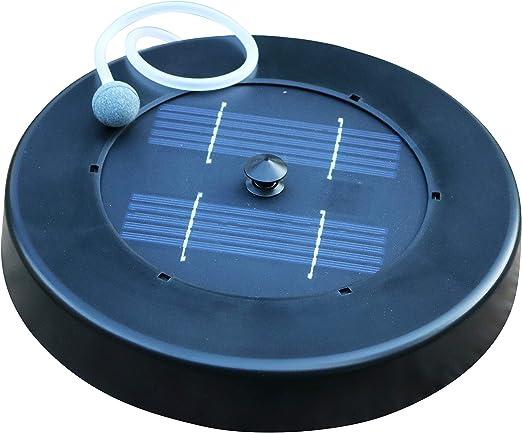 PK Green Oxigenador Solar Flotante para Estanque, Jardín, Peces - Bomba Aire Solar - Aireador Exterior con 1 Piedra de Aire: Amazon.es: Jardín