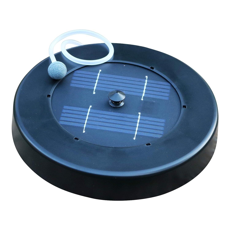 PK Green Aérateur Solaire pour étang - Pompe à air à oxygène Flottant pour Jardin, Poisson, 1 kit en Pierre