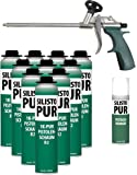 10 x Pistolet mousse 750 ml + nettoyant et gratuit gratuit Pistolet