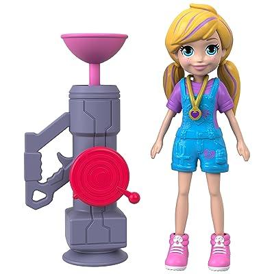 Polly Pocket Active Pose Doll, Zipline Polly: Toys & Games
