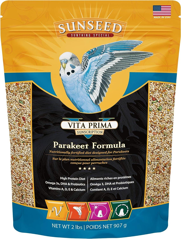 Sunseed 36040 Vita Prima Sunscription Parakeet Food - High-Variety Formula - 2 LBS