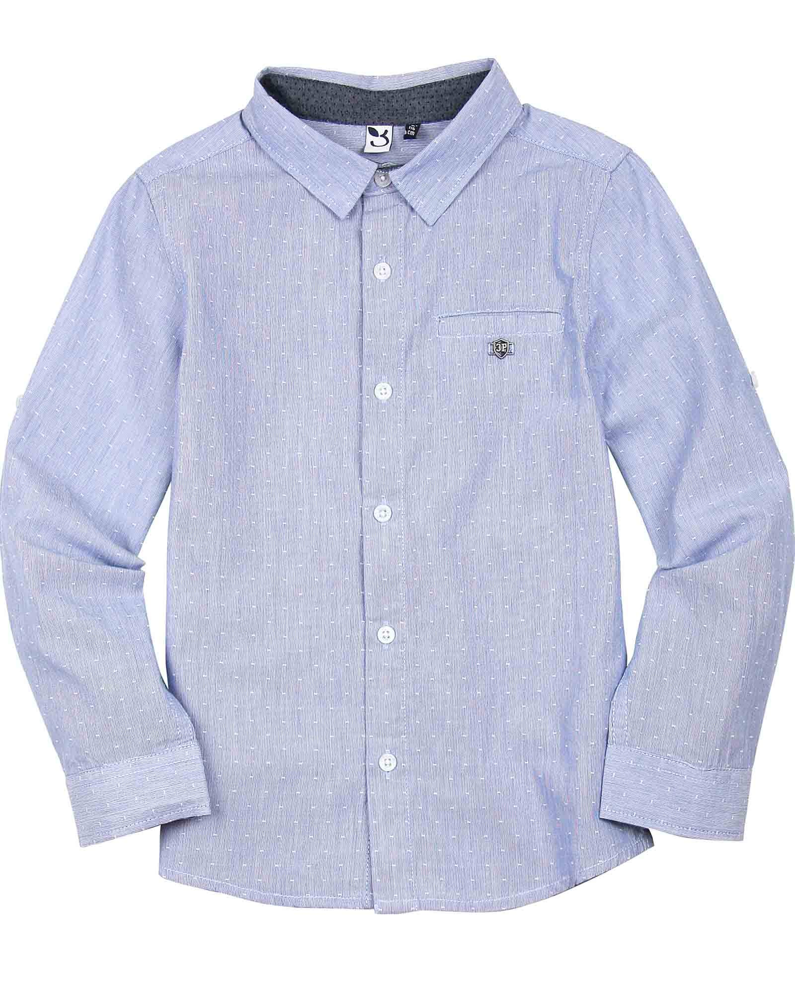 3POMMES Boy's Dress Shirt Label VIP, Sizes 4-12 - 5 Blue