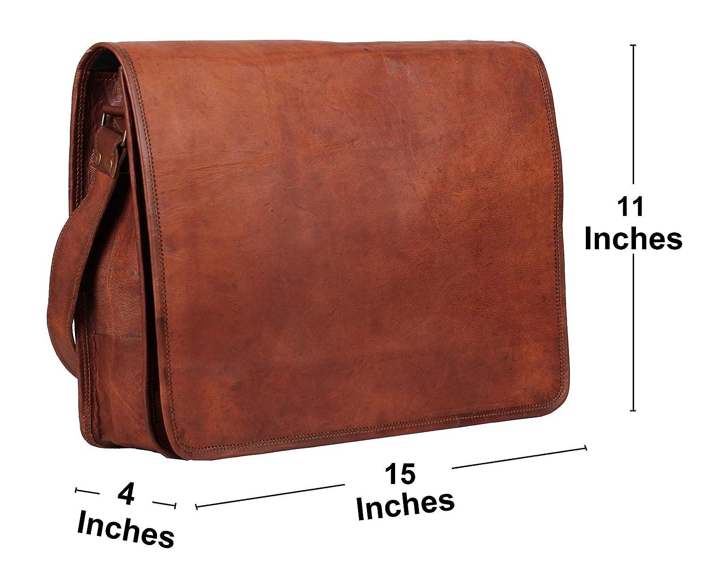 Sacchetto di cuoio del messaggero 15'Sacchetto di cuoio pieno del cuoio del sacchetto del sacchetto Eco Friendly della borsa.