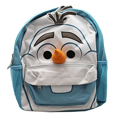 Disney's Frozen Olaf Face White/Ice Blue Small Size Toddler Backpack (12in) | Kids' Backpacks