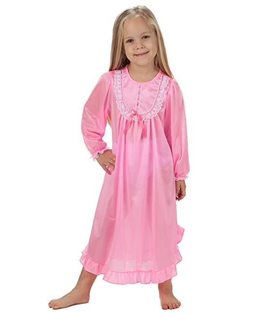 Amazon.com: Laura Dare Baby Girls Long Sleeve Traditional Nightgown ...