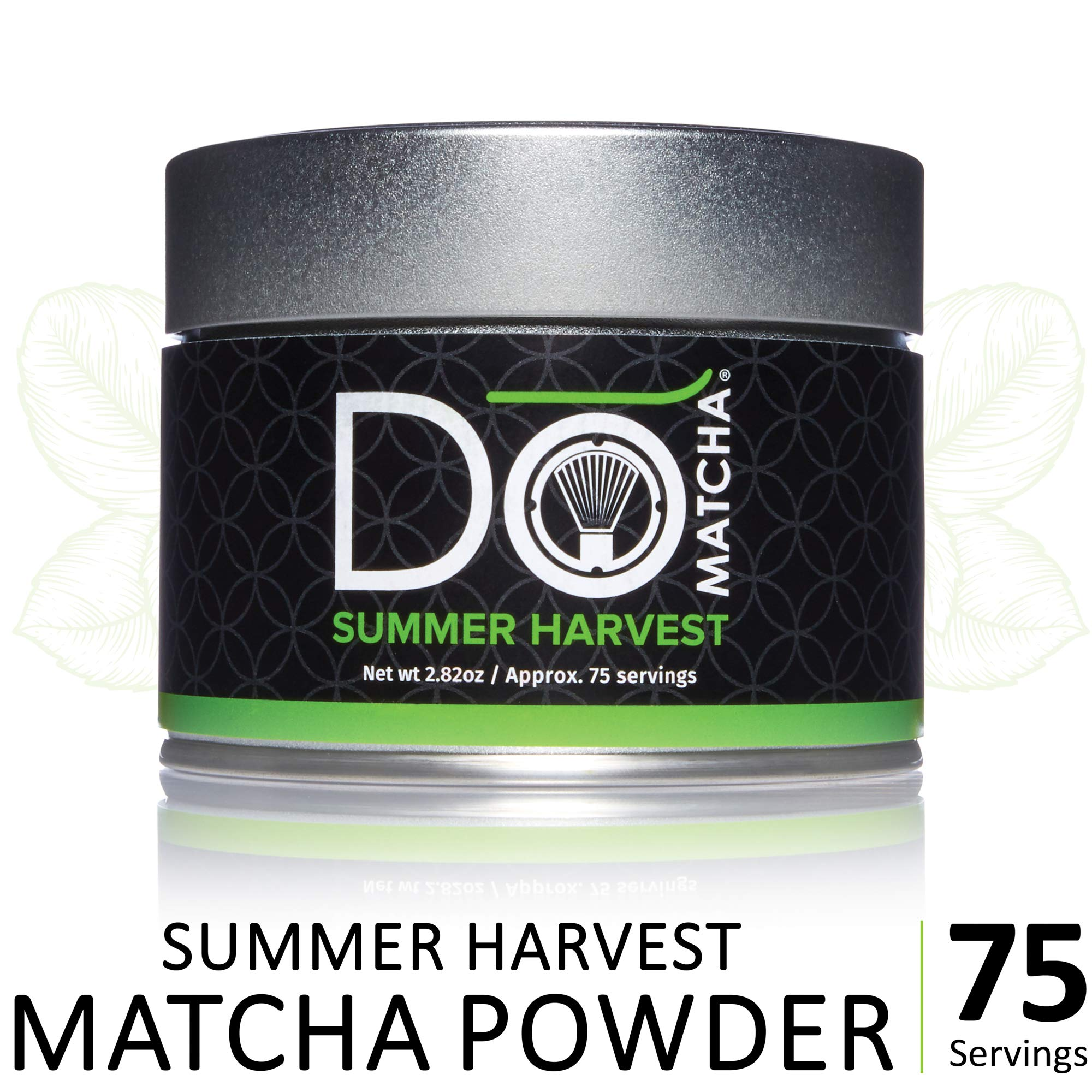 DoMatcha - Summer Harvest Green Tea Matcha Powder, Natural Source of Antioxidants, Caffeine, and L-Theanine, Promotes Focus and Relaxation, 75 Servings (2.82 oz) by DoMatcha